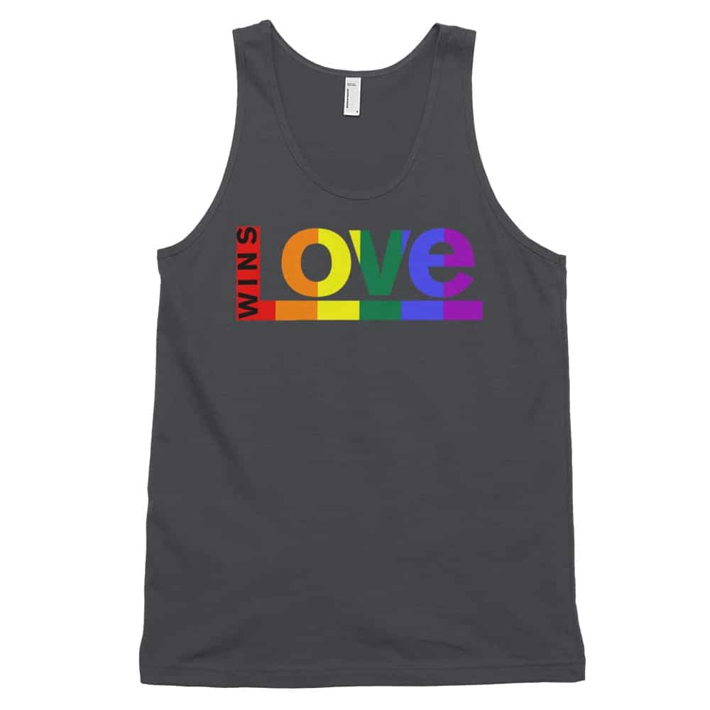 Love Wins Rainbow Tank Top Asphalt