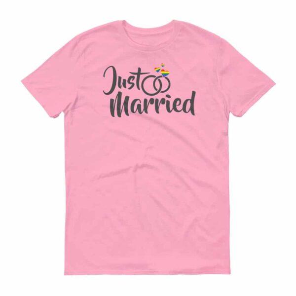 LGBTQ Just Married Unisex Tshirt