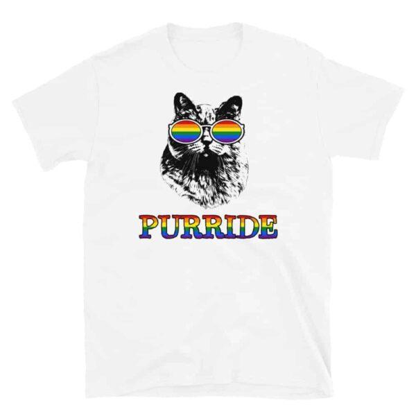 Rainbow Pride Cat Lovers Gay Pride Tshirt