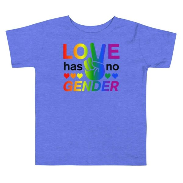 Love Has No Gender Toddler Tshirt Blue