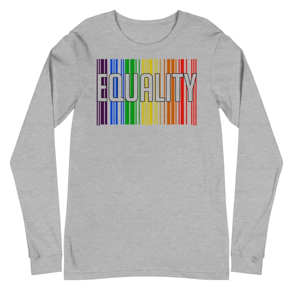 EQUALITY LGBTQ Long Sleeve Tshirt Grey