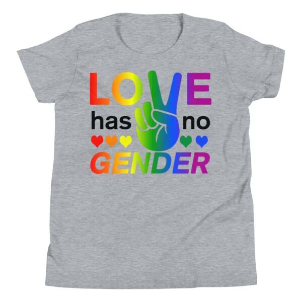 Love Has No Gender Kid Tshirt Grey