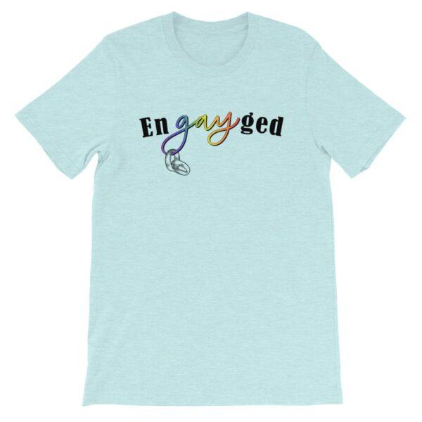enGAYged LGBTQ Pride Tshirt Ice Blue