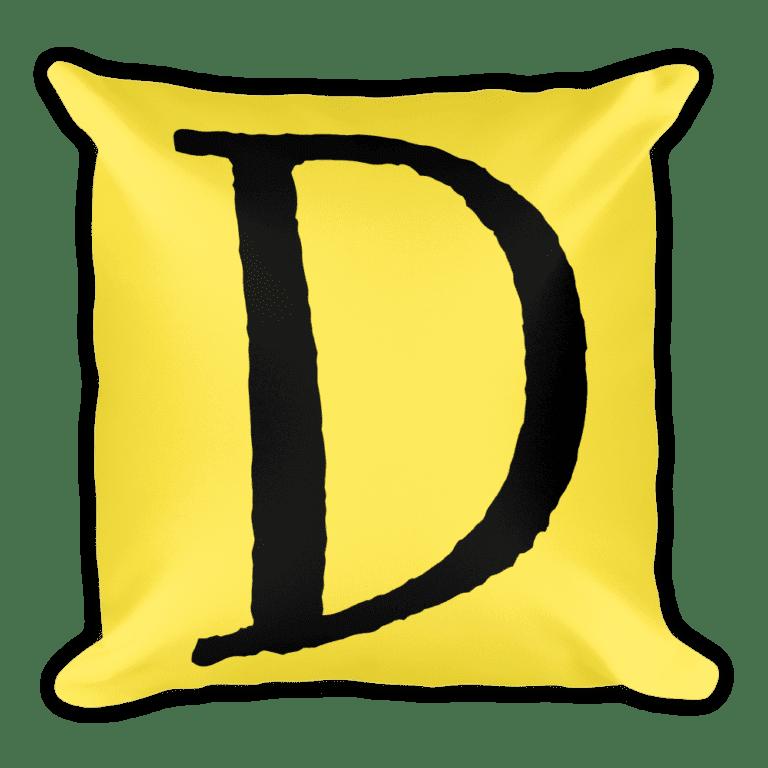 PRIDE Throw Pillow D Yellow