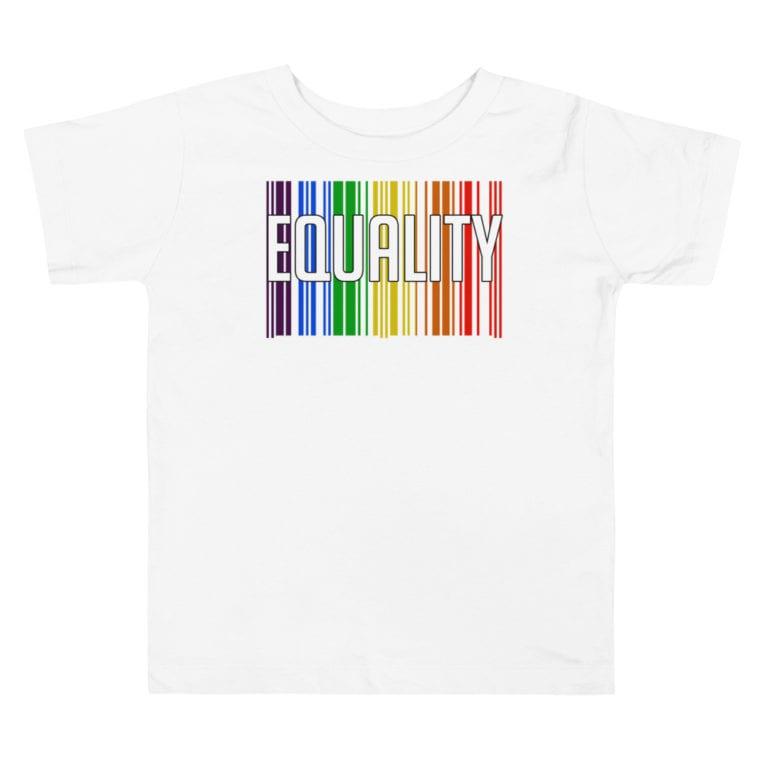 EQUALITY LGBTQ Toddler Tshirt White