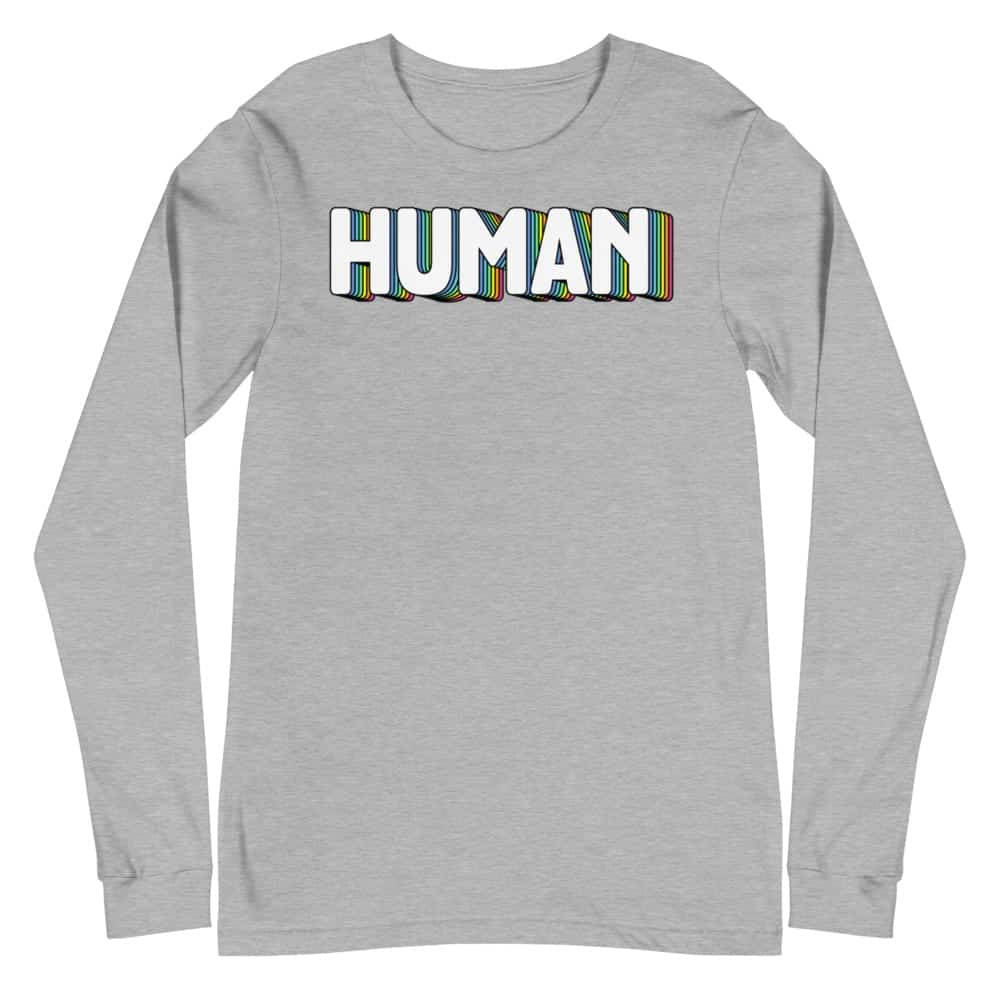 Human Gay Pride Long Sleeve Tshirt
