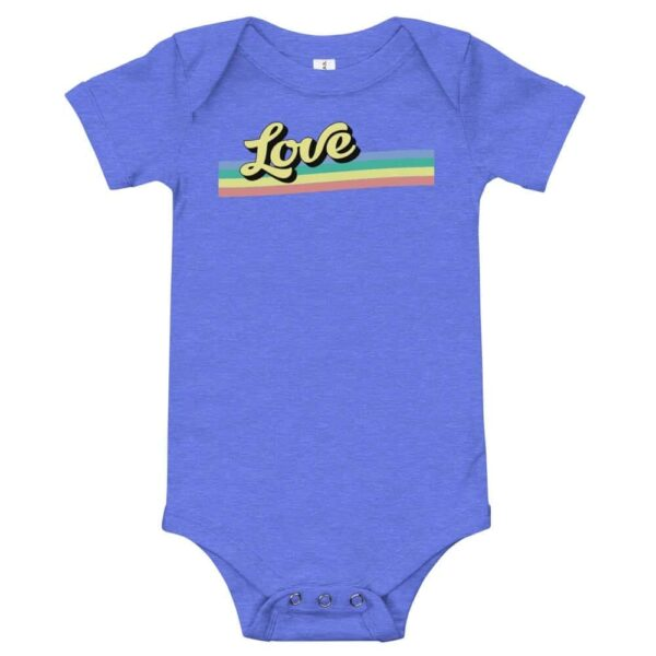 LGBT Baby Retro Love One Piece Bodysuit
