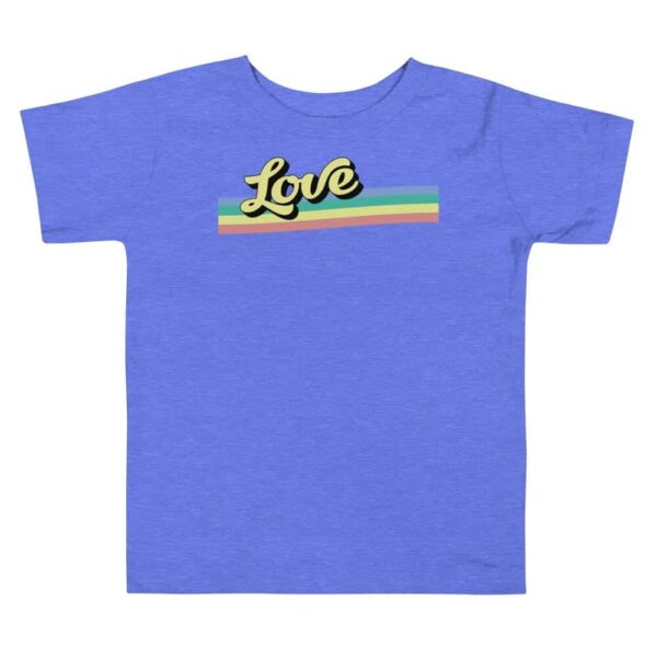 Retro Love Toddler LGBTQ Tshirt