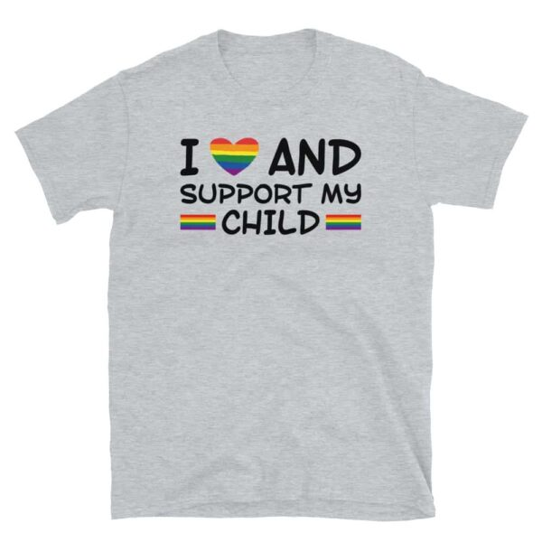 I Love & Support My Child LGBTQ Pride Tshirt