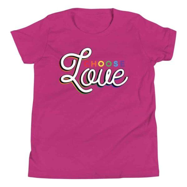 Choose Love LGBTQ Kid Tshirt