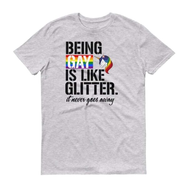 Glitter Rainbow Unicorn Gay Pride Tshirt