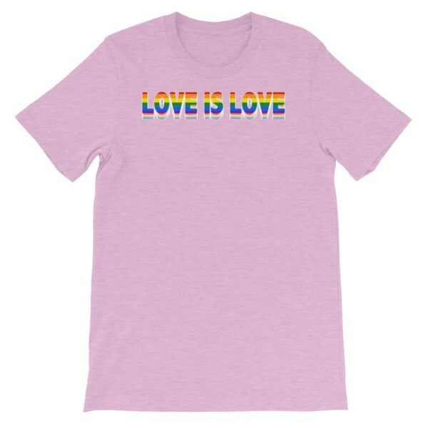 Love is Love LGBTQ Tshirt Lilac