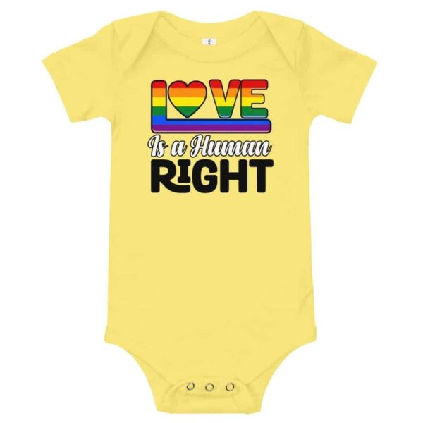 Love is a Human Right LGBT One Piece Bodysuit