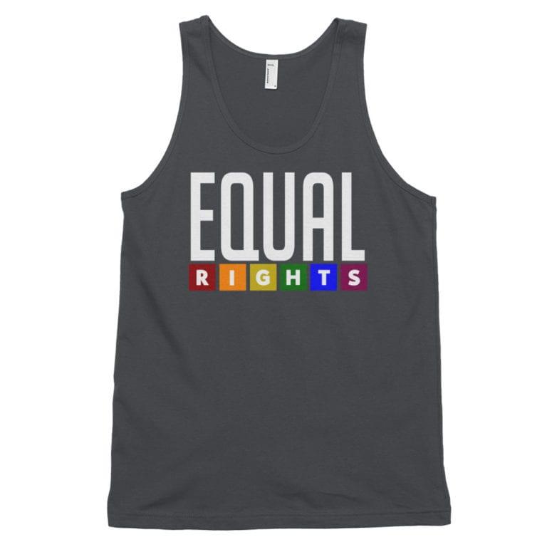 Equal Rights LGBTQ Tank Top Asphalt
