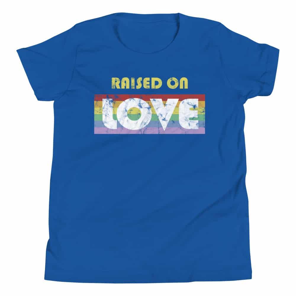 LGBT Raised on Love Pride Kid Tshirt