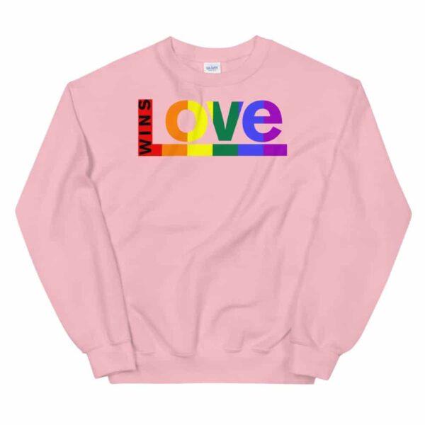 Love Wins LGBTQ Sweatshirt Pink