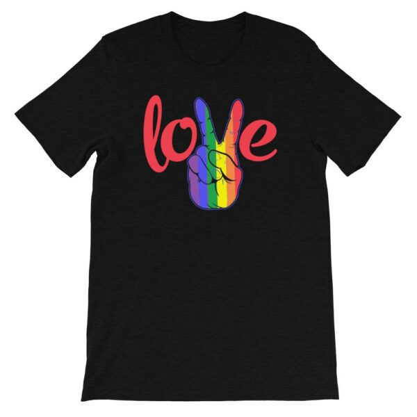 Peace Love LGBTQ PRIDE Tshirt Black