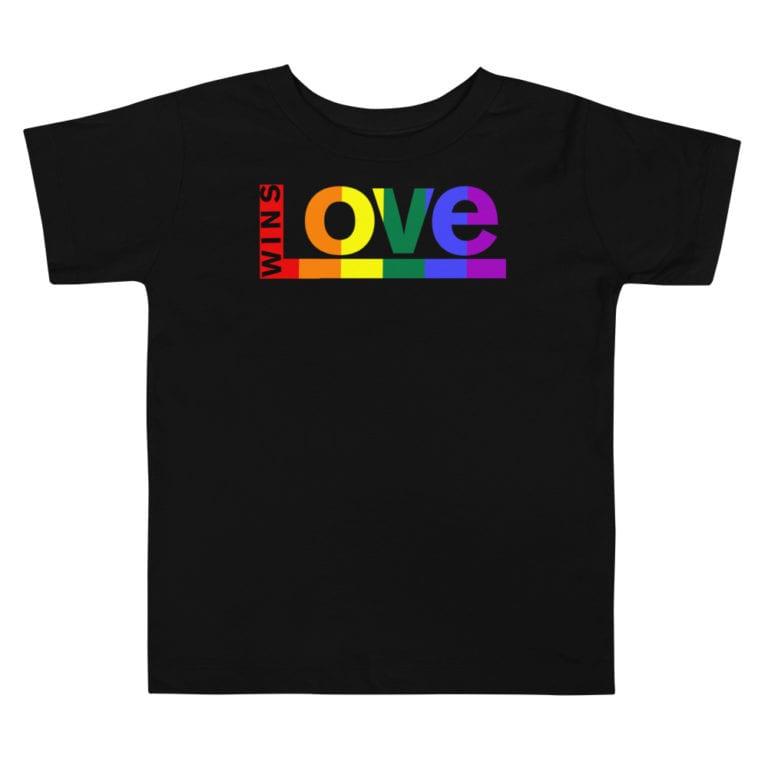 Equal Rights LGBTQ Pride Toddler Tshirt Black