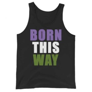 Genderqueer Pride Born This Way Tank Top