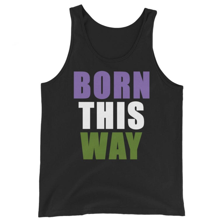 Genderqueer Pride Born This Way Tank Top
