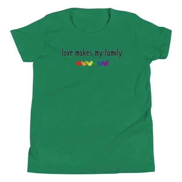 Love Makes My Family Gay Pride Kid Tshirt