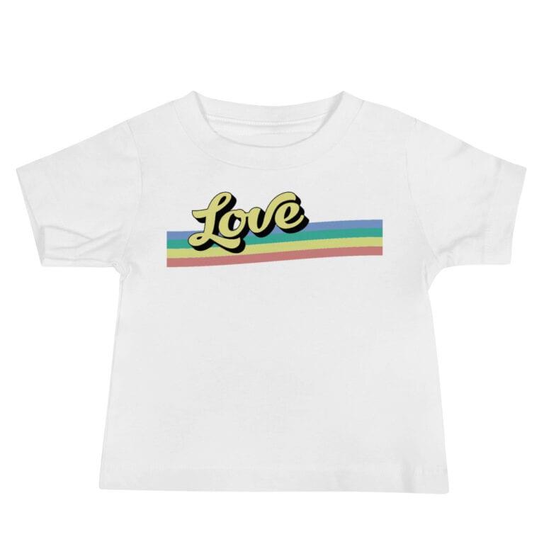 Retro Love Baby Gay Pride Tshirt