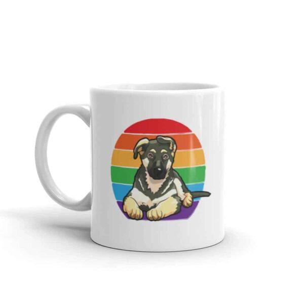 German Shepherd Rainbow Pride Coffee Mug