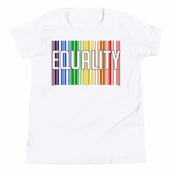 EQUALITY LGBTQ Kid Tshirt White