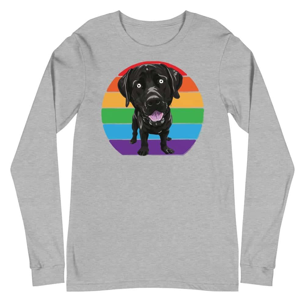 Labrador Love Gay Pride Long Sleeve Tshirt