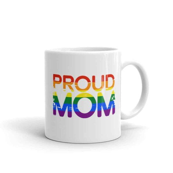 Proud Mom LGBTQ Pride Coffee Mug