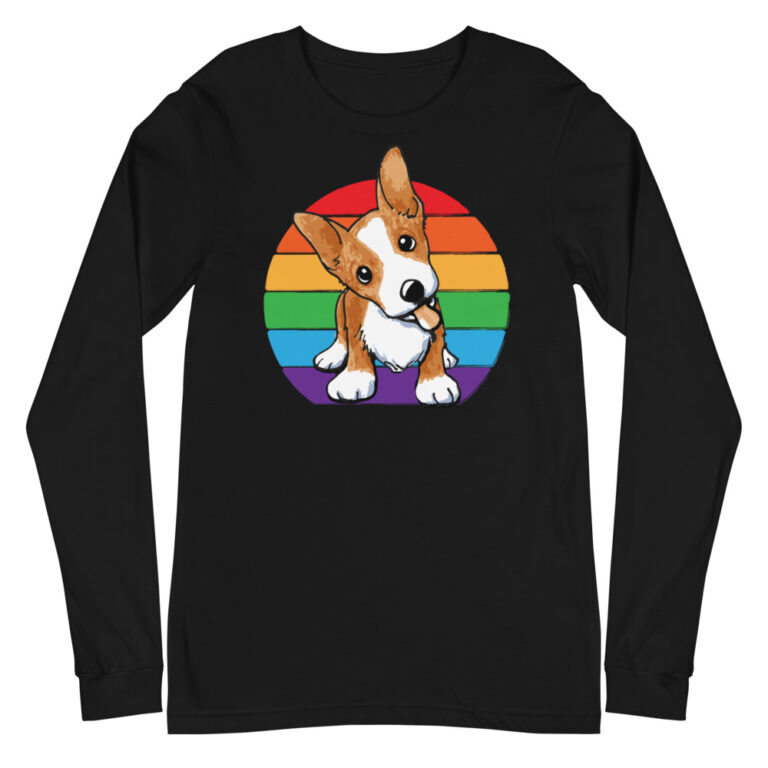 Corgi Gay Pride Long Sleeve Tshirt