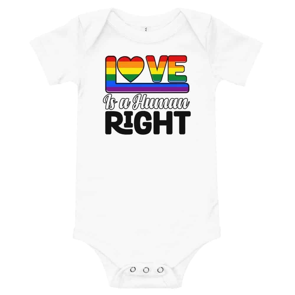 Love is a Human Right Pride One Piece Bodysuit