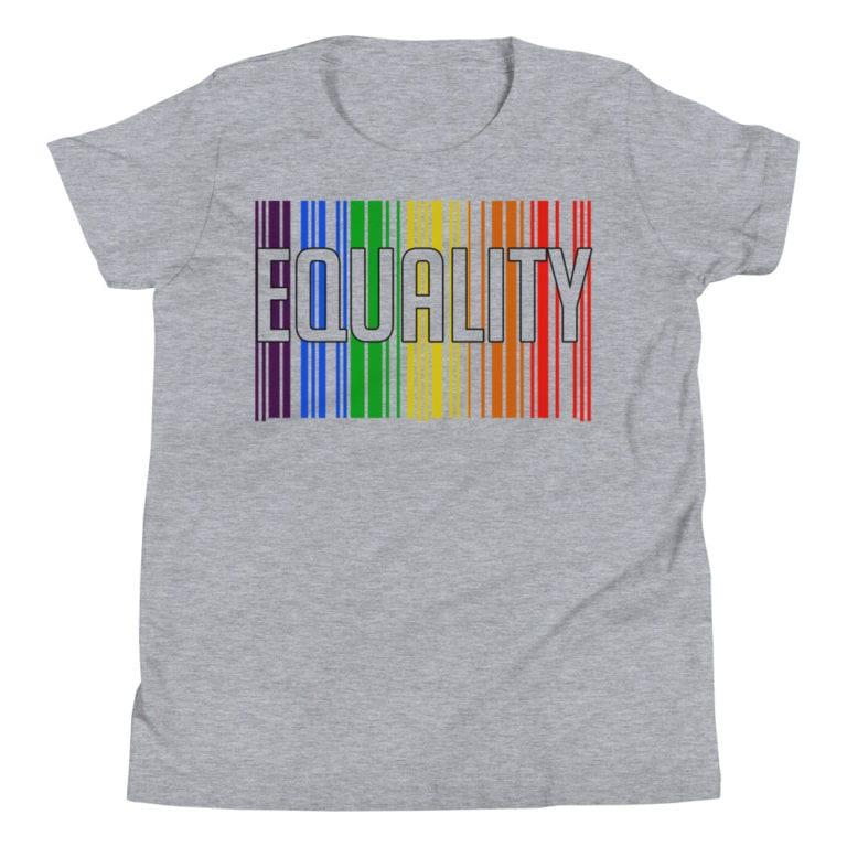 EQUALITY LGBTQ Kid Tshirt Grey
