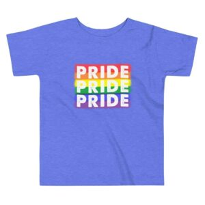 PRIDE x3 Toddler Tshirt blue