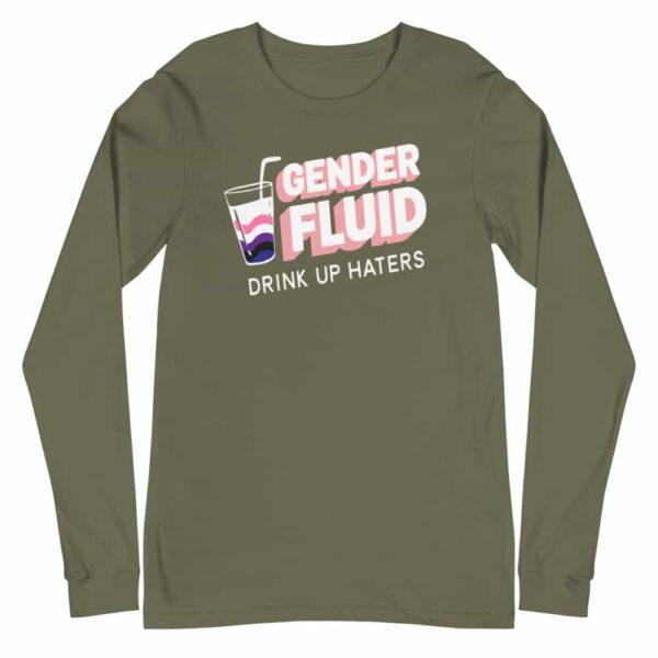 Gender Fluid Gay Pride Long Sleeve Tshirt