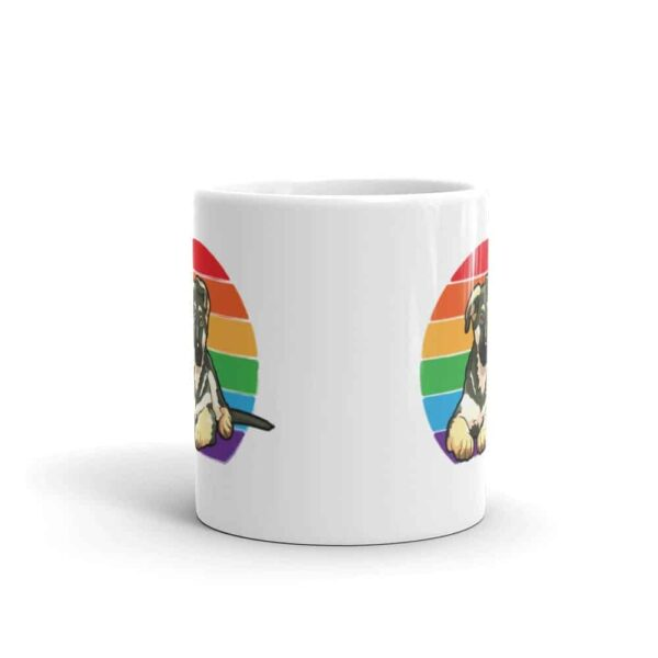 German Shepherd Rainbow LGBT Pride Coffee Mug