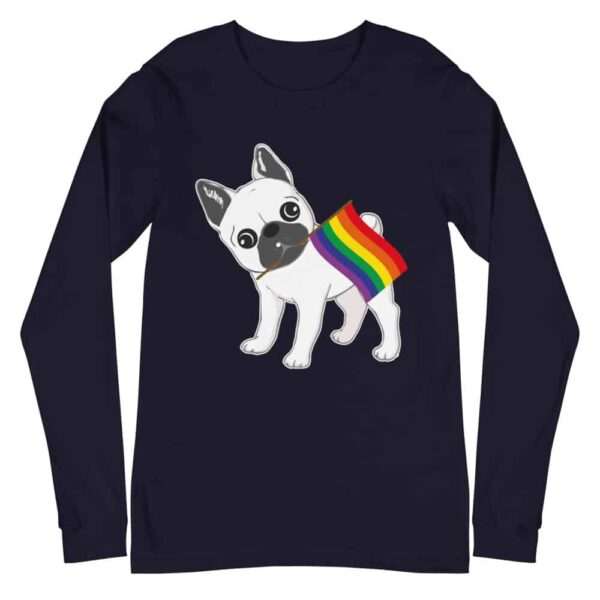 French Bull Dog LGBTQ Pride Long Sleeve Tshirt