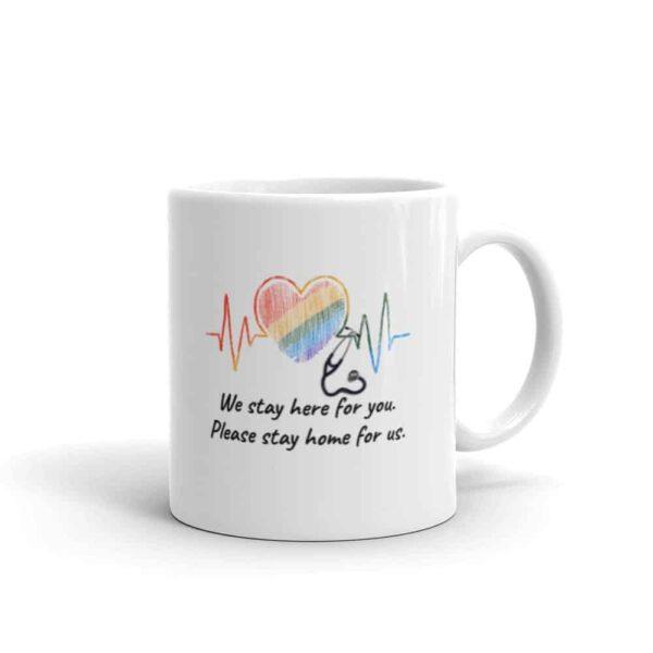 Healthcare Worker Pride LGBTQ Coffee Mug