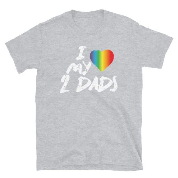 Love My 2 Dads Pride Tshirt