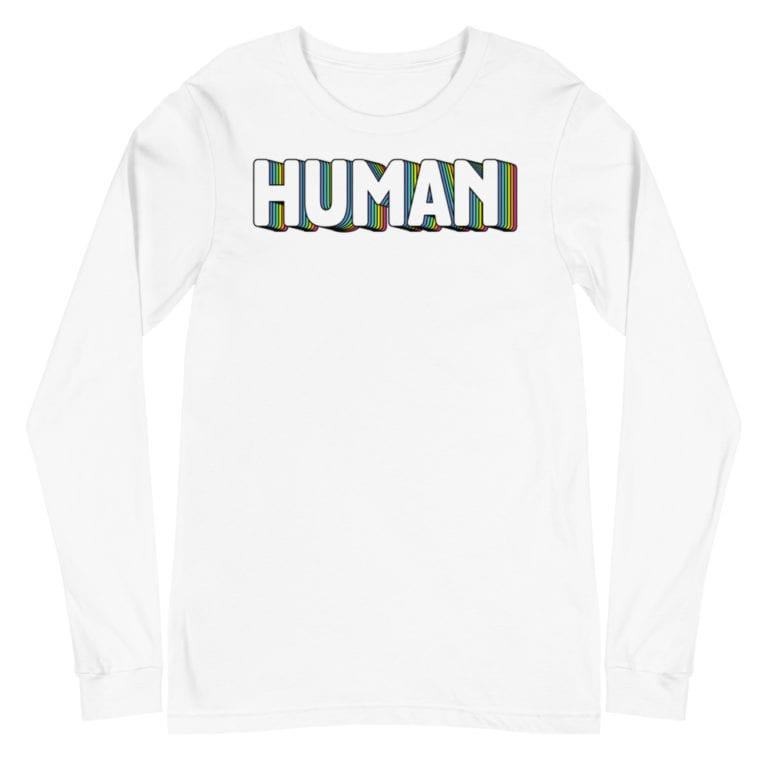 Human LGBTQ Pride Long Sleeve Tshirt