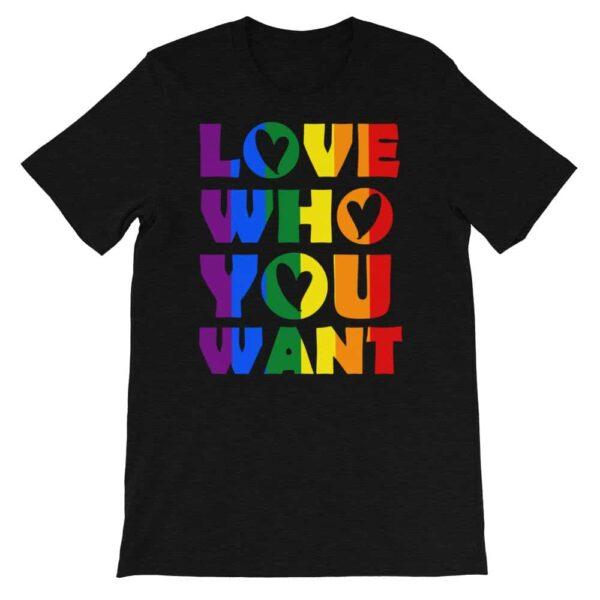 Love Who You Want LGBTQ Pride Tshirt