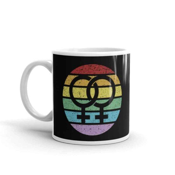 Retro Lesbian Female Symbol Pride Coffee Mug