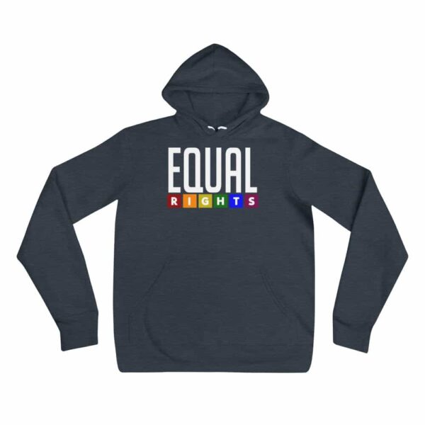 EQUAL RIGHTS LGBTQ Lightweight Hoodie Navy