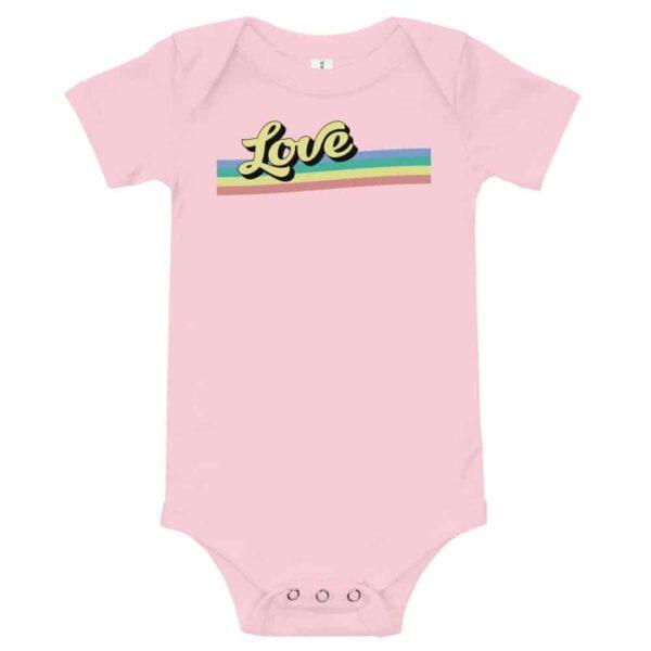 Pride Baby Retro Love One Piece Bodysuit