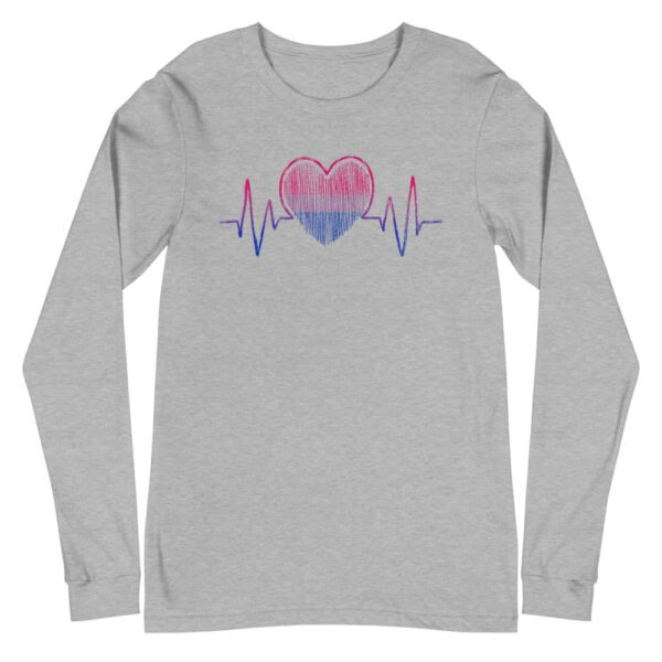 Bi Pride Heartbeat Long Sleeve Tshirt