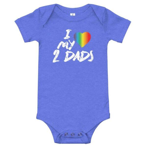 LGBTQ Pride I Love My 2 Dads Baby One Piece Bodysuit