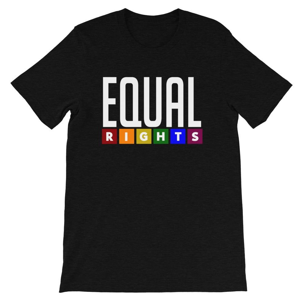 EQUAL RIGHTS LGBTQ Pride Shirt Black