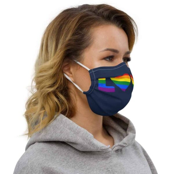 Rainbow Love Pride LGBT Face Mask