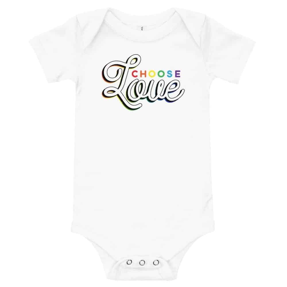 LGBTQ Choose Love Baby Onepiece Bodysuit