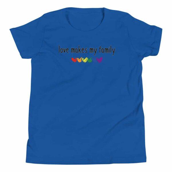 Love Makes My Family LGBT Pride Kid Tshirt